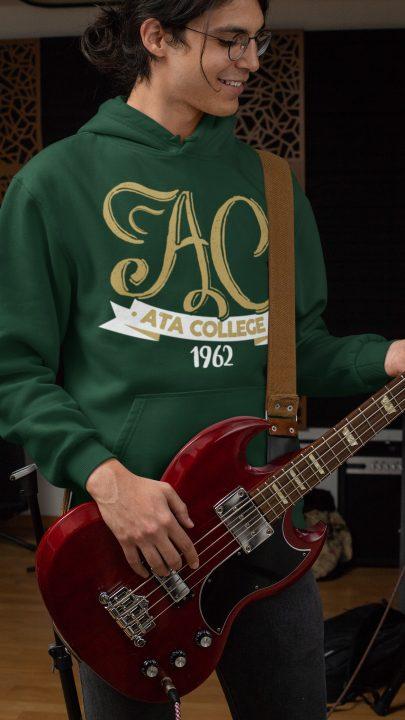 ata koleji nefti yeşili hoodie