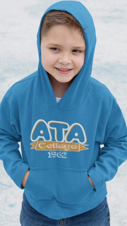 ata koleji ilkokul kapşonlu sweatshirt